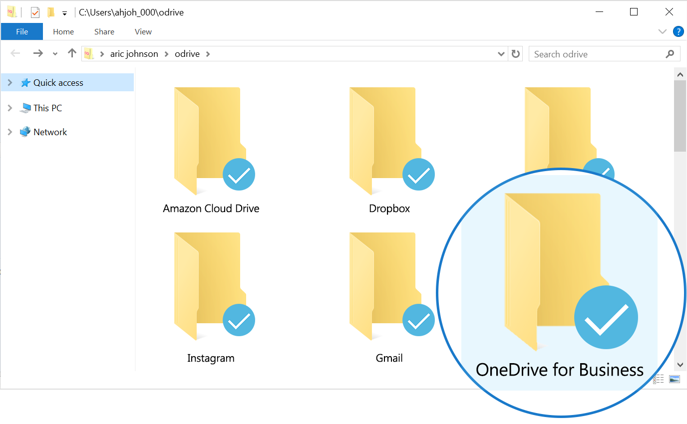 odrive doesn't download anything until you decide you want it